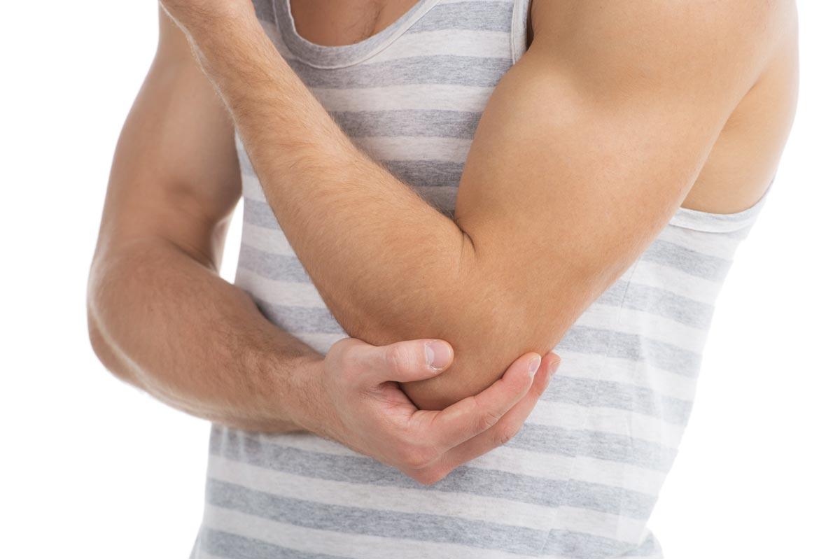 Golferellbogen bzw. -arm (Epicondylitis humeri ulnaris bzw. medialis)
